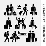 travel people vector icons.... | Shutterstock .eps vector #1648895647