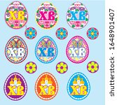 stickers  labels on eggs for... | Shutterstock .eps vector #1648901407
