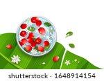 songkran festival thailand rose ... | Shutterstock .eps vector #1648914154