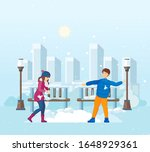 vacation winter activity young. ... | Shutterstock .eps vector #1648929361