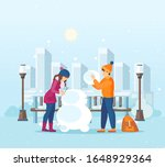 vacation winter activity young. ... | Shutterstock .eps vector #1648929364