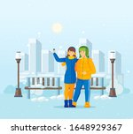 vacation winter activity young. ... | Shutterstock .eps vector #1648929367