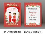 save the date.cute chinese... | Shutterstock .eps vector #1648945594