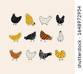 Vintage Set Of Hens. Easter...