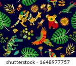 colored seamless pattern ...   Shutterstock . vector #1648977757