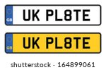 uk number plate - stock vector