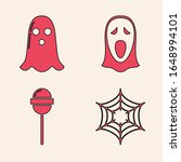 set spider web   ghost   funny...   Shutterstock .eps vector #1648994101