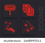 set stick for chips  casino... | Shutterstock .eps vector #1648995511