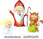 Saint Nicholas  Devil And Ange...