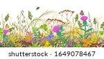 seamless horizontal border with ... | Shutterstock .eps vector #1649078467