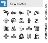 set of sewerage icons. such as...   Shutterstock .eps vector #1649088421