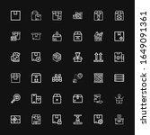 editable 36 packing icons for... | Shutterstock .eps vector #1649091361