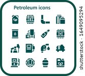 petroleum icon set. 16 filled... | Shutterstock .eps vector #1649095294