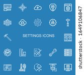 editable 22 settings icons for...