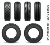 vector tire icons | Shutterstock .eps vector #164915501