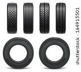 vector tire icons | Shutterstock .eps vector #164915501
