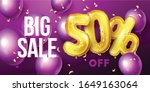 big sale background with gold...   Shutterstock .eps vector #1649163064