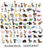 super set of cute cartoon... | Shutterstock .eps vector #164916947