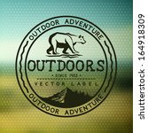 outdoors adventure badge with... | Shutterstock .eps vector #164918309