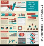 info graphic template with... | Shutterstock .eps vector #164920121