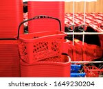 Single Red Plastic Shopping...