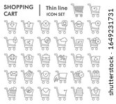 shopping cart thin line icon... | Shutterstock .eps vector #1649231731