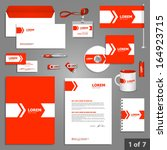 stationery template design with ... | Shutterstock .eps vector #164923715
