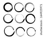 grunge circles for black paint. ... | Shutterstock .eps vector #164925971