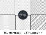 set of 6 black and white... | Shutterstock .eps vector #1649285947