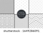 set of 6 black and white... | Shutterstock .eps vector #1649286091