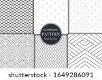 set of 6 black and white... | Shutterstock .eps vector #1649286091