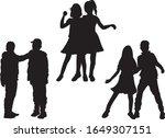 black silhouette of children on ...   Shutterstock .eps vector #1649307151