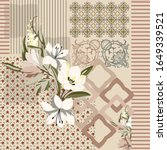 square silk scarf design with... | Shutterstock .eps vector #1649339521