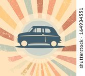 vintage retro car vector... | Shutterstock .eps vector #164934551