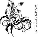 floral corner. vector... | Shutterstock .eps vector #16493605