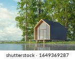 Wooden Secluded House In...