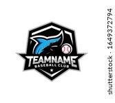 sharks logo for the baseball... | Shutterstock .eps vector #1649372794