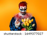 A Portrait Of A Clown  With A...