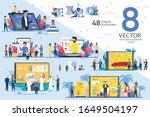 e commerce project presentation ...   Shutterstock .eps vector #1649504197