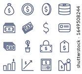set finance line icon. vector... | Shutterstock .eps vector #1649508244