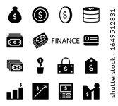 set finance solid icon. vector... | Shutterstock .eps vector #1649512831