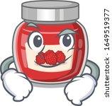 cool raspberry jam mascot... | Shutterstock .eps vector #1649519377