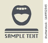 mouth icon or sign  vector... | Shutterstock .eps vector #164952545