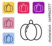 black line pumpkin icon...   Shutterstock .eps vector #1649562577