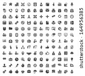 set of isolated icons for...   Shutterstock .eps vector #164956385