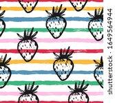 vector cute seamless pattern... | Shutterstock .eps vector #1649564944