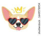 chihuahua in sunglasses flat... | Shutterstock .eps vector #1649578954