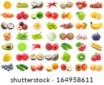 collection of various fruits... | Shutterstock . vector #164958611