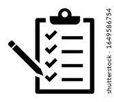 checklist icon vector.checklist ...   Shutterstock .eps vector #1649586754
