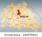 map of berlin with red push pin | Shutterstock .eps vector #164959661
